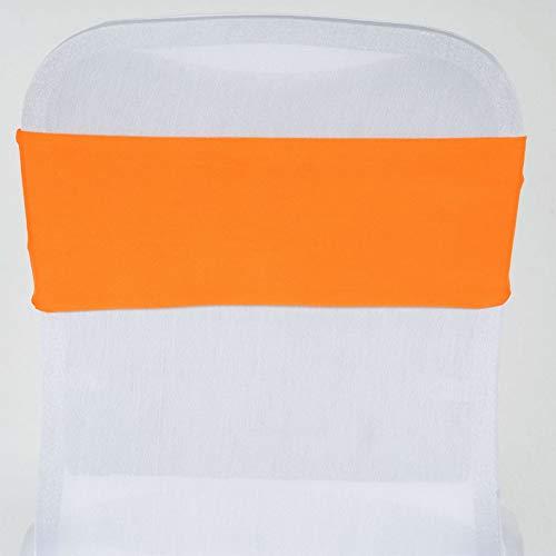 Mikash Spandex Chair Sashes Bows Ties Wedding Reception Decorations Dinner Wholesale | Model WDDNGDCRTN - 4630 | 50 pcs