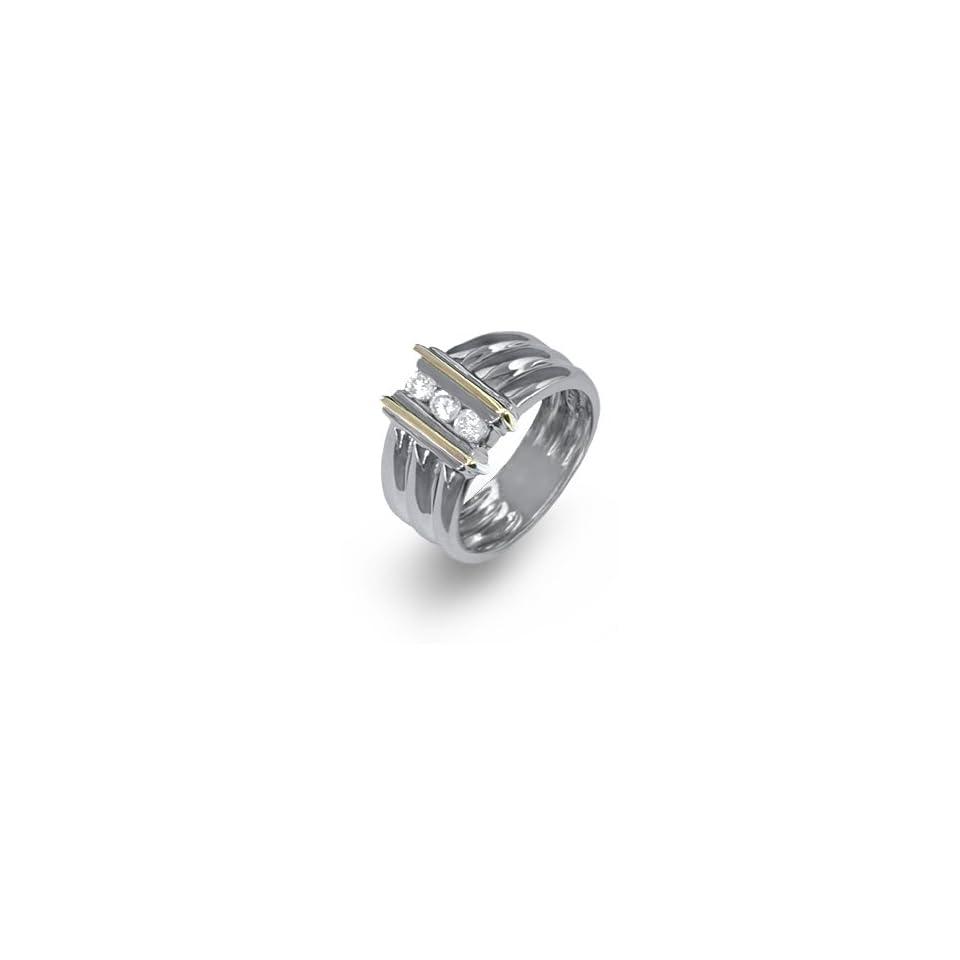 Ladies Two Tone Gold Diamond Ring
