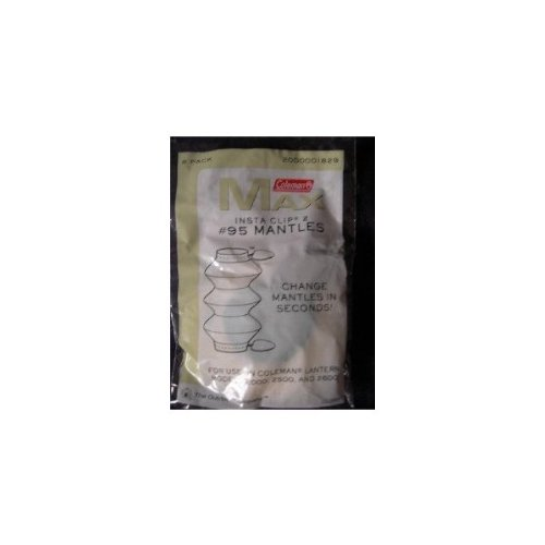 Coleman Max #95 Insta-Clip 2 Tube Style Lantern Mantles Pack of 2