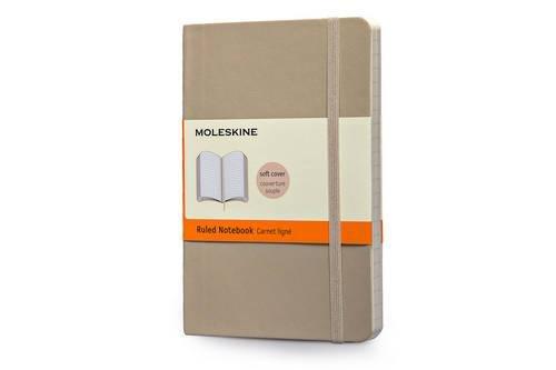 Moleskine Classic Colored Notebook, Pocket, Ruled, Khaki Beige, Soft Cover (3.5 x 5.5)
