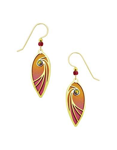 2-part Teardrop Polished Brass Overlay Earrings 7782 ()