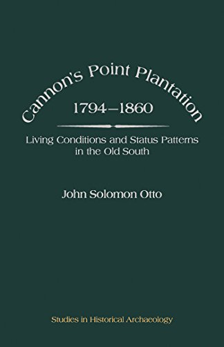 Cannon's Point Plantation, 1794 - 1860: Living Conditions and Status Patterns in the Old South (Studies in Historical Archaeology)