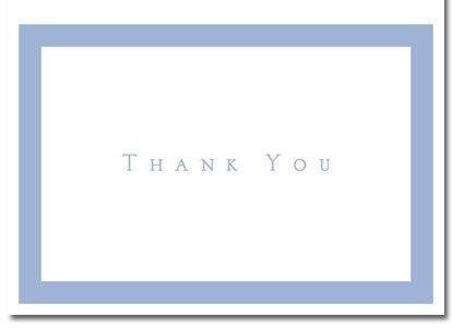 Periwinkle Thank You Note 50 Cards & 50 Envelopes