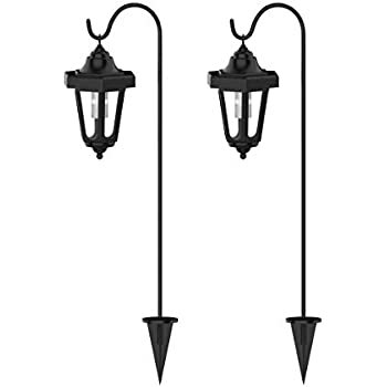 Solar Powered Lights Set Of 6 Led Outdoor Stake Spotlight Fixture
