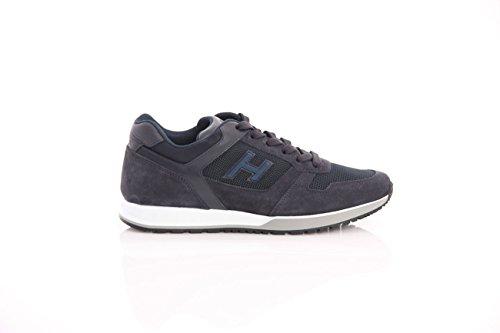 Hogan Sneakers H321 Blu In Pelle Scamosciata, Herren.