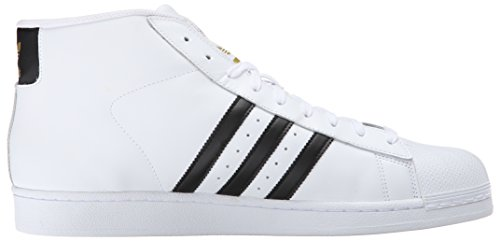 Adidas Performance Pro Model scarpa da basket, Bianco / nero / bianco, 11.5 M Us