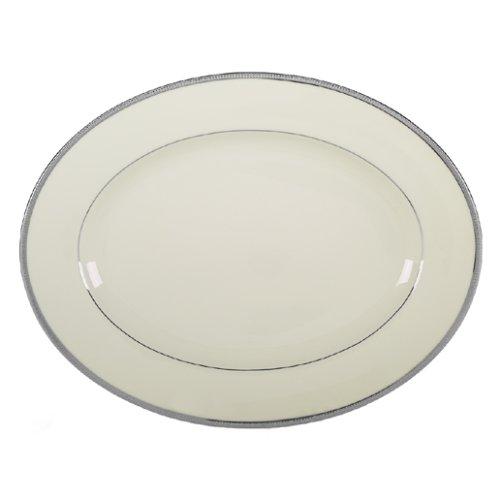 Lenox Tuxedo Platinum Ivory China 13-Inch Oval -