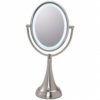 Oval Pedestal (CRL Pedestal Oval Mirror with LED Surround Light by CR Laurence)
