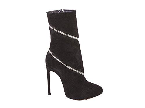 ALAÏA Women's 4W3T050CC05BLACK Black Suede Ankle Boots q7kdQeIVAK