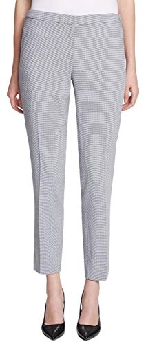 Calvin Klein Women's Straight-Leg Seersucker Pants, Navy/White, Petite 8 ()