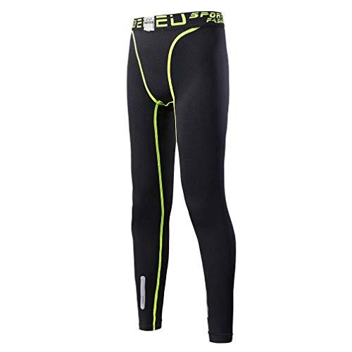 TERODACO 2PCS Boys /& Girls Compression Pants Base Layer Leggings Soccer Basketball Hockey Tights