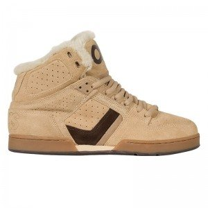 a6127ad6d6 Osiris Bronx Skate Shoes Tan Sherling - Limited Edition with faux fur -  skateboard shoes,