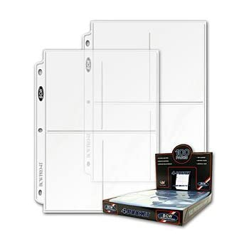 BCW Pro 4 Pocket Photo Page 3 5 Inch X 20