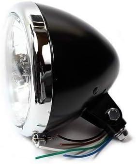 5 3//4 Scheinwerfer Springer Black//Chrom Klarglas