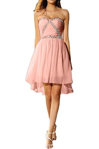 Brautjungfernkleis Herzform Cocktailkleid Steine Chiffon Abendkleid Wassermelone Damen Kurz Liebeling Promkleid Ivydressing IxwB8SqaT