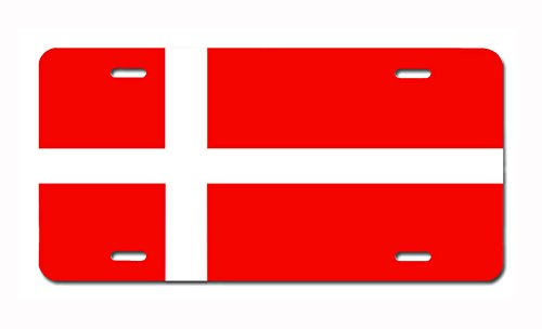 Danish Flag License Plate by Carpe Diem Designs, Made in the - Buy In What To Copenhagen