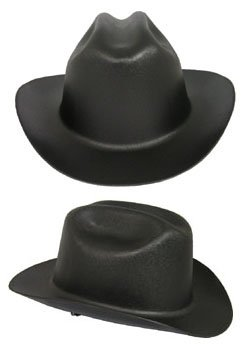Western Hat Hard - Jackson Safety Ratchet Suspension, West Outlaw, Black, PK4