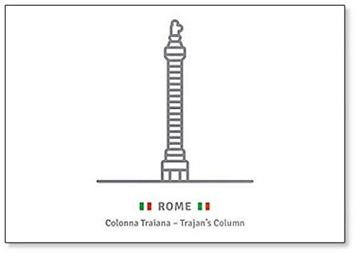 (Rome With Trajans Column And Italian Flag classic fridge magnet)