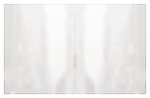 RABCO Products, Inc 200 8.5x11 All Clear Heat Sealed Vinyl Menu Cover Double Pocket 4 View, 8.5'' x 11'' (Pack of 24) by RABCO Products, Inc