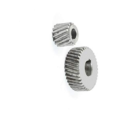Aexit Repair Part Electrical Spiral Bevel Gear Pinion Set for Hitachi 4SB2 Electric Motors Marble Machine -