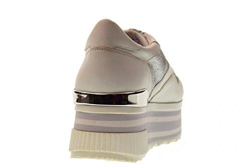 ALTRAOFFICINA de avec Plate de Blanc Forme Q1800X Chaussures Argent Femmes Sport ppUwrxq