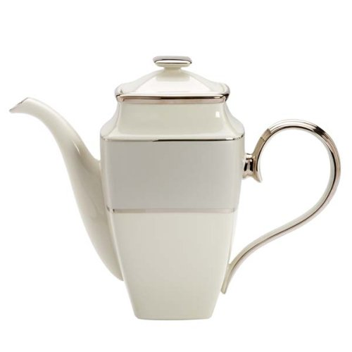 Pot Platinum Banded Coffee (Lenox Ivory Frost Platinum Banded Square Coffeepot)