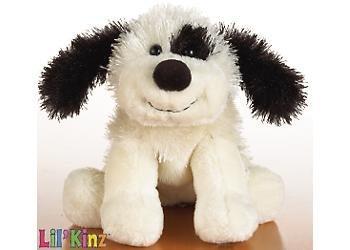 - Lil'Kinz Mini Plush Stuffed Animal Black and White Cheeky Dog