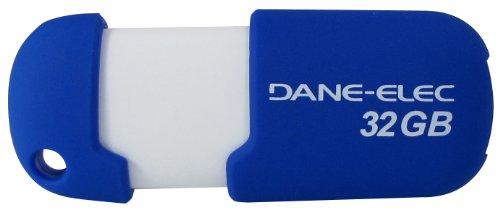 Dane Elec Usb - Dane-Elec 2.0 USB 32 GB Pen Drive Aqua Capless DA-ZMP-32G-CA-A1-R