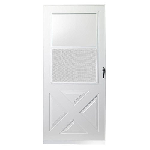 200 Series 30 in. White Crossbuck Storm - Door Crossbuck