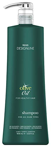 Olive Oil Shampoo - Regis DESIGNLINE - Fortified with Olive Oil and Rich in Vitamins E and K to Help Protect Hair from Environmental Damage (33.8 ()