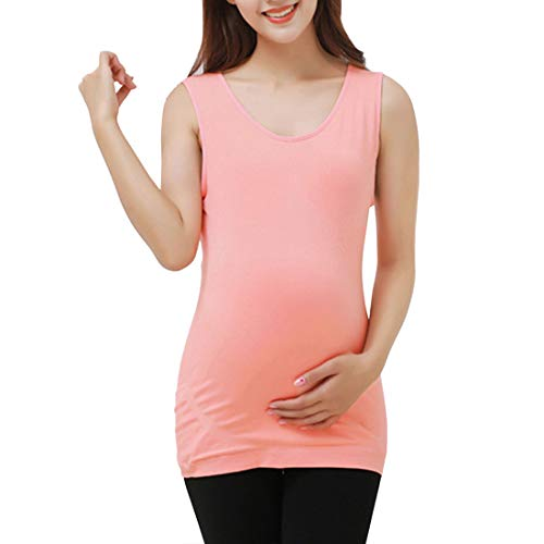 隠逆説スキムロングライン マタニティベストMaternity Vest Top 女性用 -二重層 シームレス 暖かい 妊娠チュニック プラスサイズ Zhhlaixing