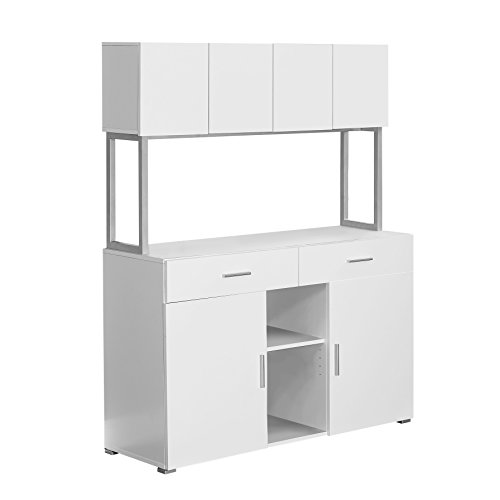 Monarch Specialties White Hollow-Core Office Storage Credenza, 48-Inch