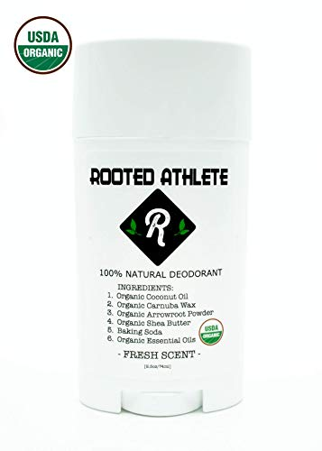 100% Natural Deodorant (That Works!) - Fresh Scent - Aluminum Free - Certified Organic - for Women and Men (Best Deodorant For Female Athletes)