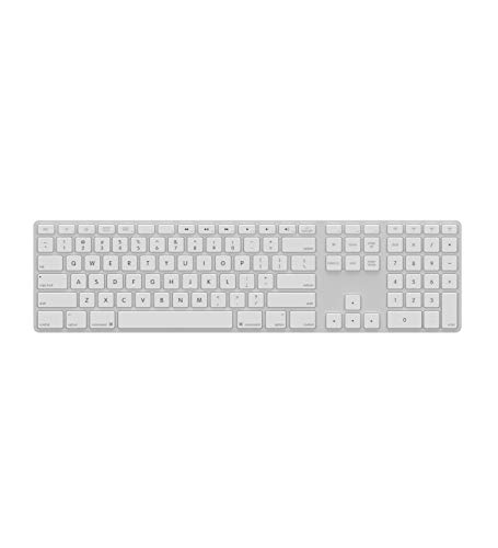 (Matias FK418BTLW Backlit Bluetooth Wireless Aluminum Keyboard with Numeric Keypad and 4-Device Sync - Compatible with Mac, iPhone, iPad, Android and Windows PC)