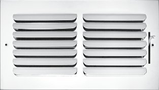 1-Way Curved Blade Supply Air Grille - Maximum Air Flow - HVAC Vent Cover