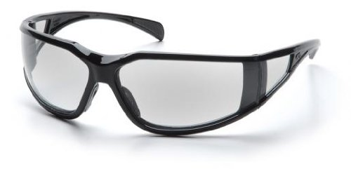 Pyramex SB5110DT Exeter Safety Glasses Blk Frame w/Clear Anti-Fog Lens (12 Pair) (Exeter Glasses Safety Pyramex)
