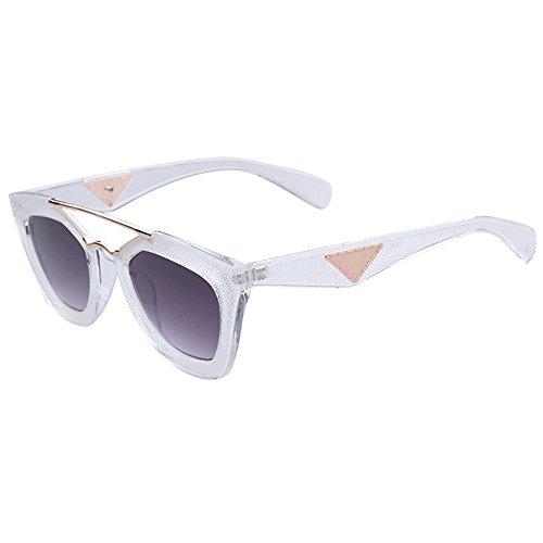 [Mr Rabbit Oversized Unisex Flat Top Square Frame Fashion Wear Sunglasses] (Mr Gum Costume)