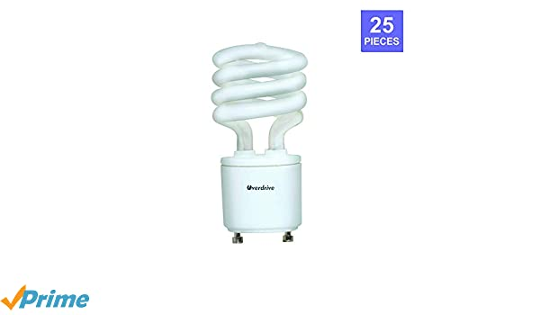 Overdrive 079 13W/ODSGU/41K 13W, 4100K Bulb with T2 Super Mini Spiral GU24 Base (25 Pack), Piece - - Amazon.com