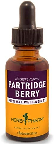 Herb Pharm Partridge Berry Squaw Vine Liquid Extract - 1 Ounce