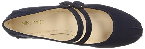 Nine West Kvinners Xrye Semsket Ballett Flat Navy