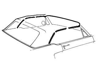 - Mustang Convertible Top Weatherstrip Kit 5 Pieces 1969 - 1970
