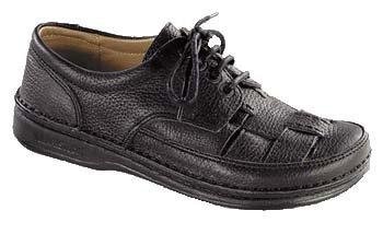 Footprints Handnaht-Schuhe ''Bodega'' aus echt Leder in Schwarz