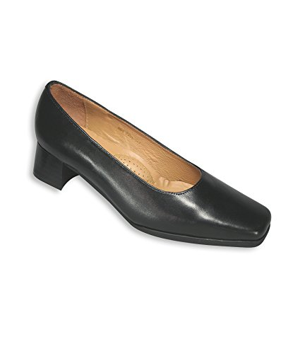 Alexandra stc-fw139bk-6Mujer Zapatos de tacón, Plain, piel, tamaño: 6, color negro