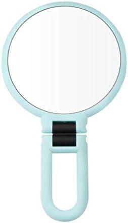 360°の回転ファッションミラーの拡大鏡とトウ両面卓上メイクアップミラー片側 W1XX (Color : White, Size : 15X)