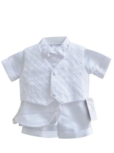 Classykidzshop White Boy Baptism Outfit B5 - Size 4T