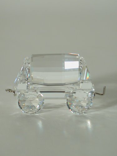 Swarovski Silver Crystal Tipping Wagon Train 7471 Retired