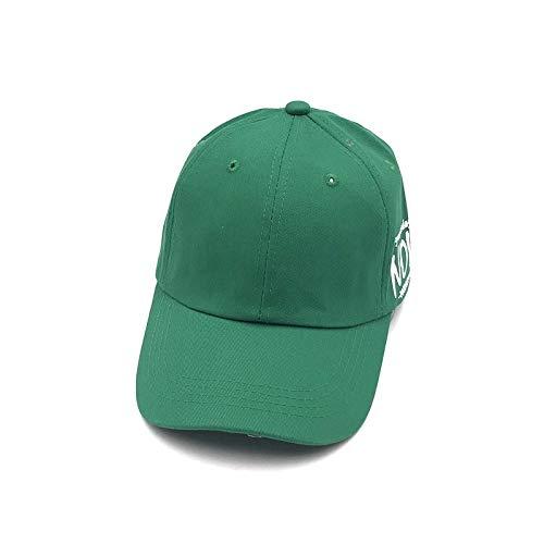 POIUIU Gorra De Béisbol,Moda Lado Carta Impresión Verde Ajustable ...