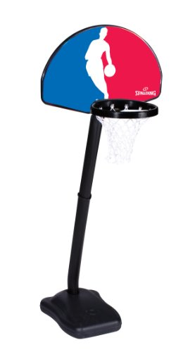 Spalding One on One NBA Logo Man Portable Youth Basketball System