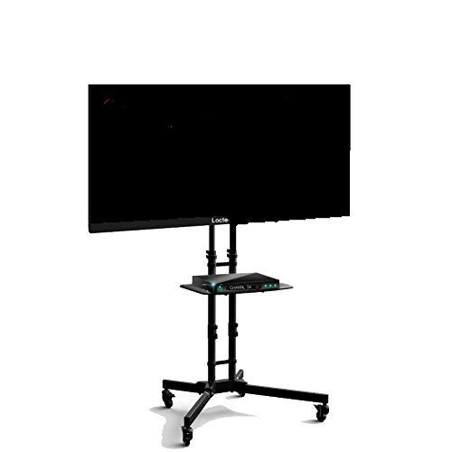 Exing Soporte de TV portátil, Pantalla Plana LCD TV Soporte Soporte móvil Carro Titular 32-65 Pulgadas Piso TV Stand para...