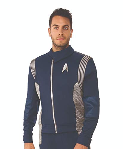 (Rubie's 821213-XL Star Trek Discovery Science Costume Uniform, Silver, X-Large)